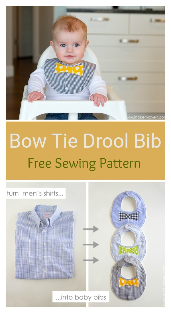 Bow Tie Drool Bib Free Sewing Pattern