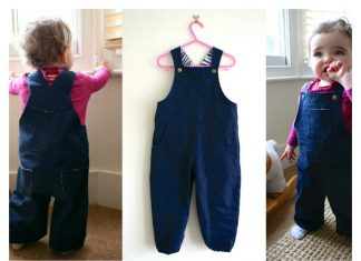 Baby Dungarees Free Sewing Pattern