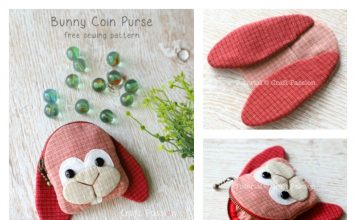 Bunny Coin Purse Free Sewing Pattern