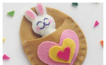 DIY Cute Felt Bunny Craft with Template