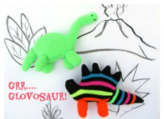 Glove Dinosaur Free Sewing Pattern