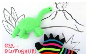 Glove Dinosaur Free Sewing Pattern