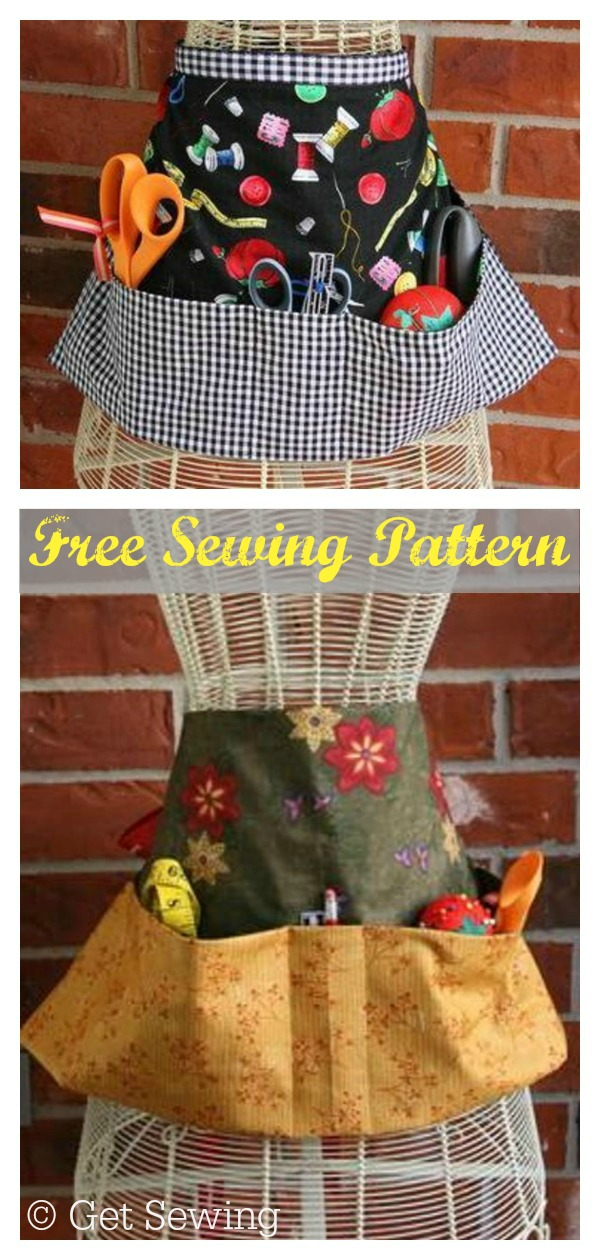 Hobby Pocket Apron Free Sewing Pattern