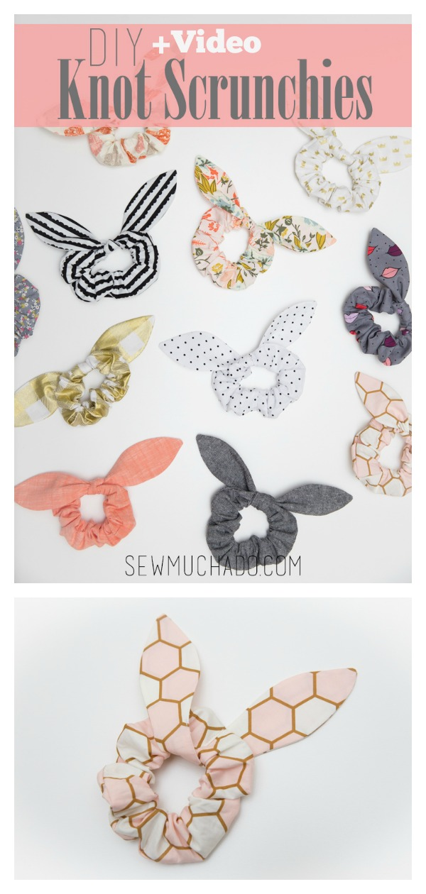 Knot Scrunchie Free Sewing Pattern and Video Tutorial