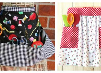 Modern Pocket Apron Free Sewing Pattern