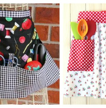 Modern Pocket Apron Free Sewing Pattern