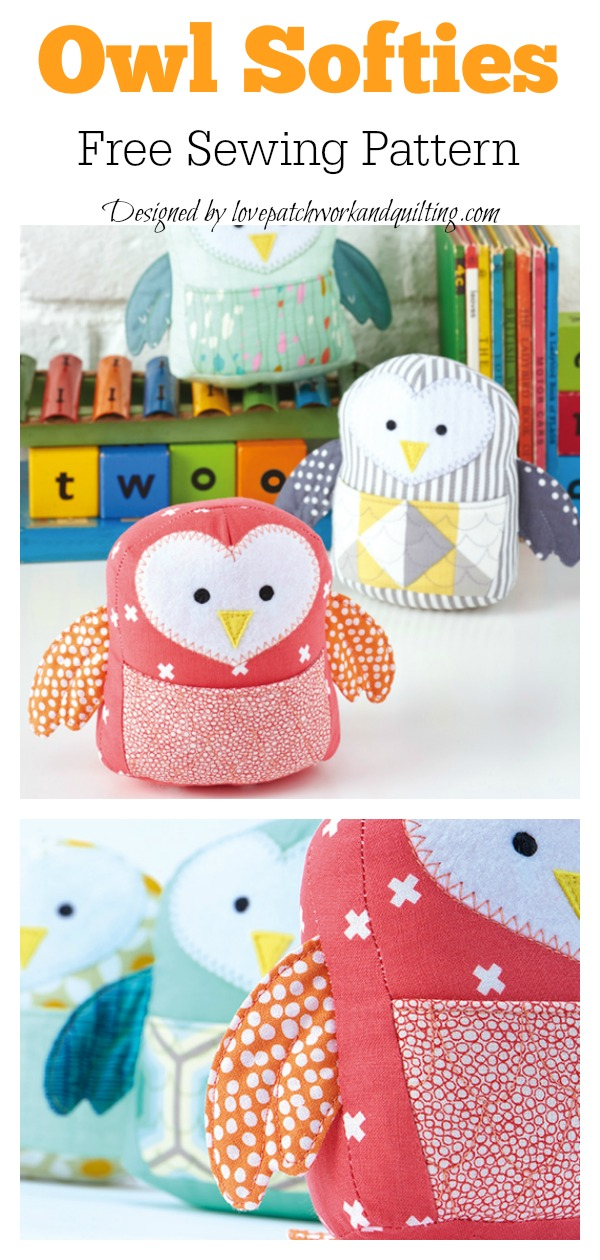 Owl Softies Free Sewing Pattern