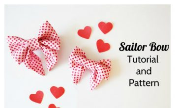 Sailor Bow Free Sewing Pattern