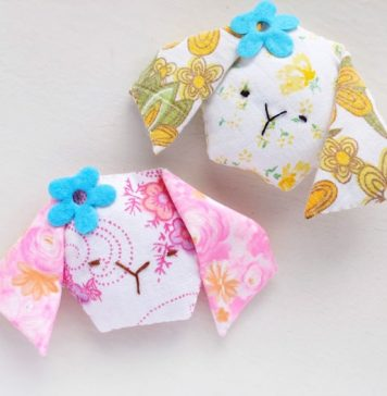 Bunny Sachet Free Sewing Pattern