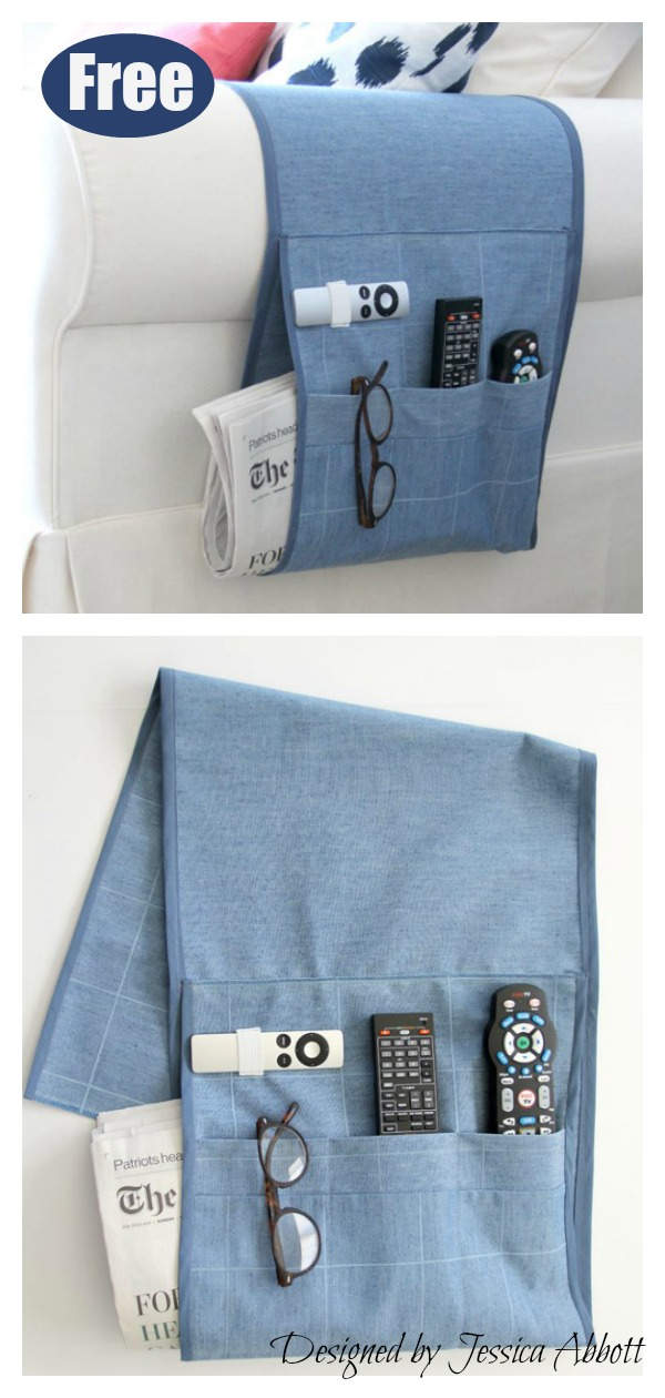 Armchair Remote Holder Free Sewing Pattern