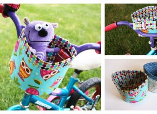 Bicycle Bucket Free Sewing Pattern