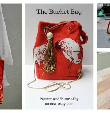 Bucket Bag Free Sewing Pattern