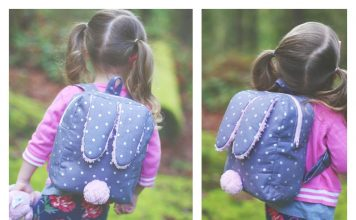 Bunny Toddler Backpack Free Sewing Pattern