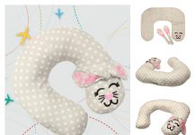 Bunny Travel Pillow Free Sewing Pattern