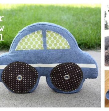 Car Pillow Free Sewing Pattern and Template