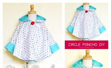 Circle Poncho Raincoat Free Sewing Pattern