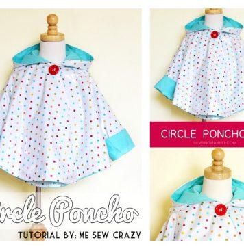 Circle Poncho Raincoat Free Sewing Pattern