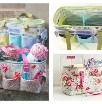 Craft Bag Free Sewing Pattern and Video Tutorial