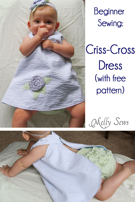 Criss Cross Dress Free Sewing Pattern and Video Tutorial