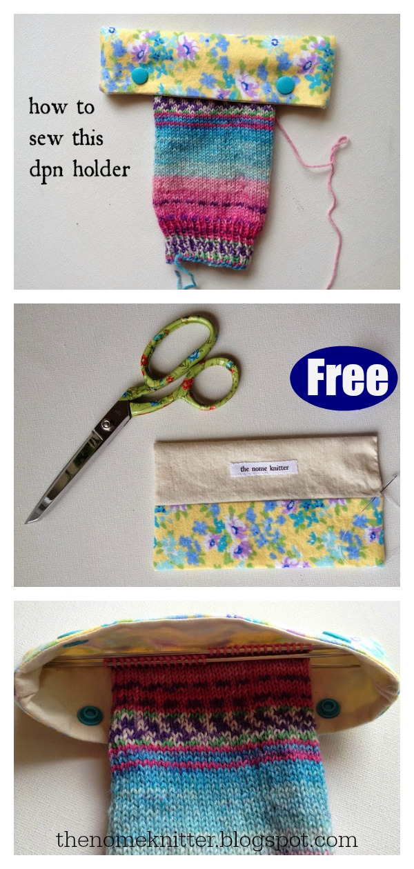 Double-Pointed Needle Keeper Free Sewing Pattern