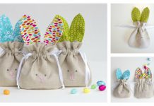 Drawstring Bunny Bags Free Sewing Pattern