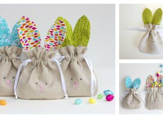 Drawstring Bunny Bags Free Sewing Pattern