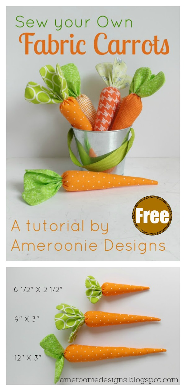 Fabric Carrot Free Sewing Pattern