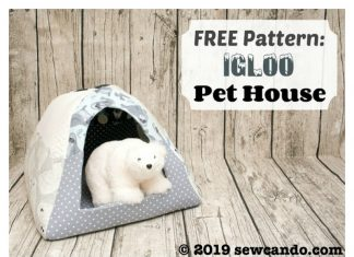 Fleece Pet House Igloo Free Sewing Pattern