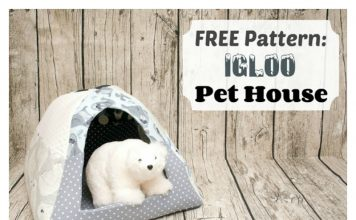 Fleece Pet House Igloo Free Sewing Pattern
