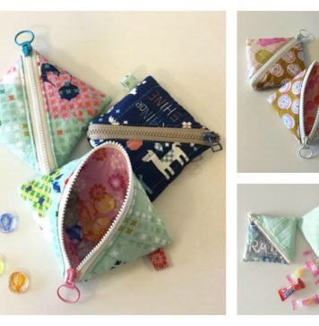 Half Square Triangle Pouch Free Sewing Pattern