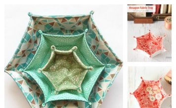 Hexagon Fabric Tray Free Sewing Pattern