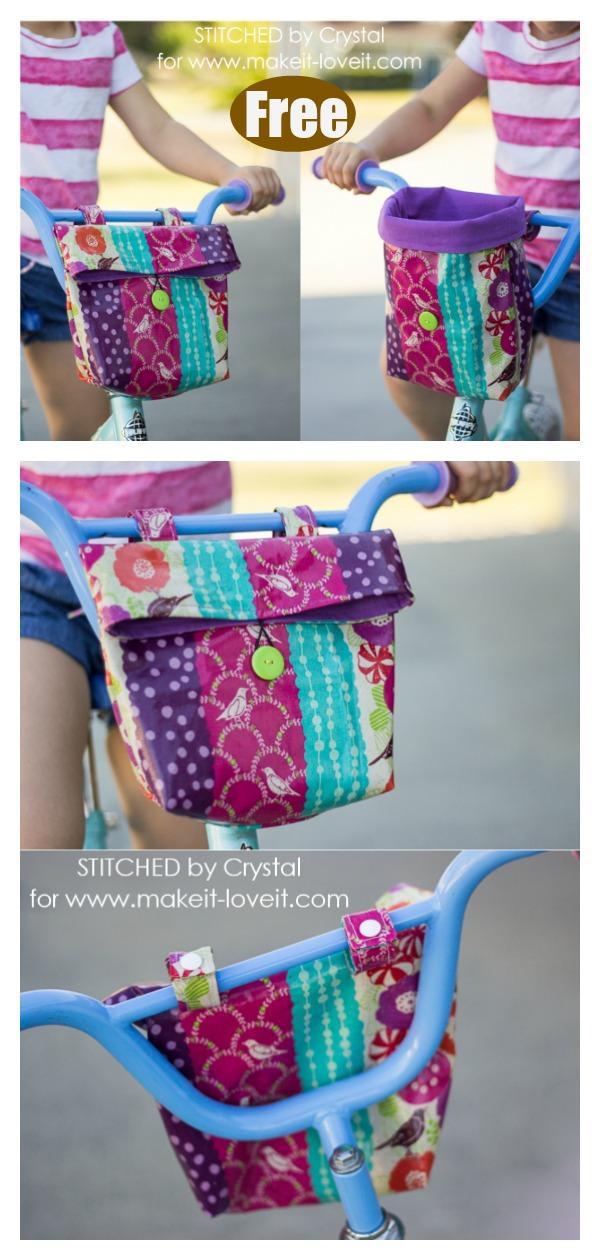 Kid's Bike Handlebar Bag Free Sewing Pattern
