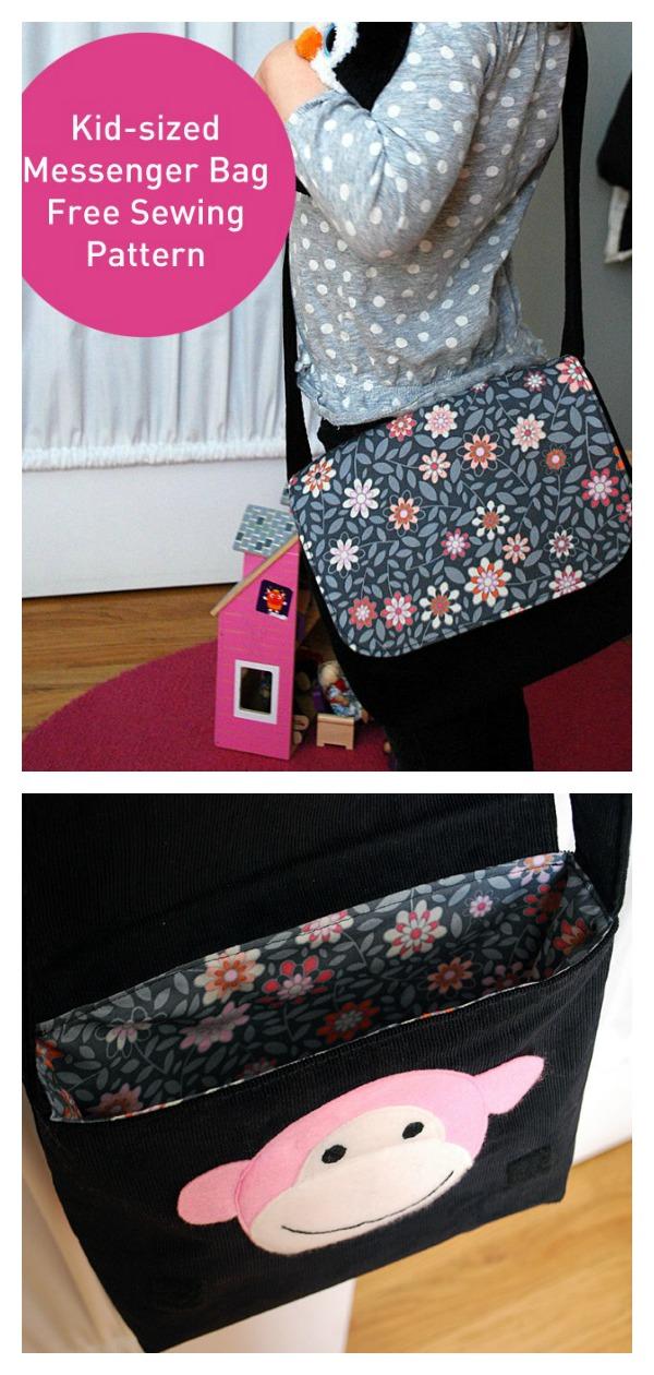 Kid-sized Messenger Bag Free Sewing Pattern