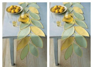Leafy Table Runner Free Sewing Pattern
