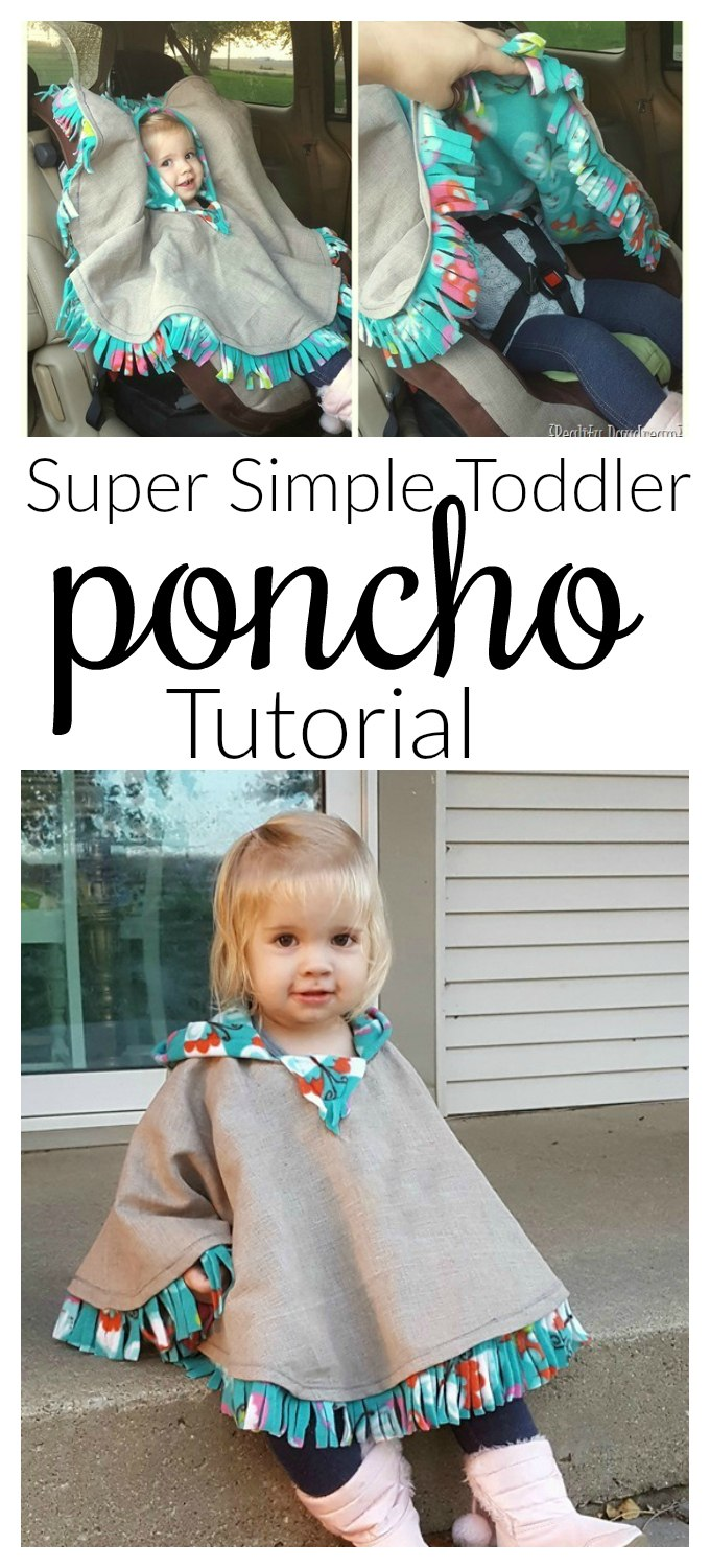 Fleece-Lined Hooded Car Seat Poncho Free Sewing Pattern