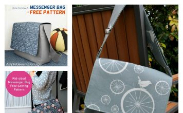 Messenger Bag Free Sewing Pattern
