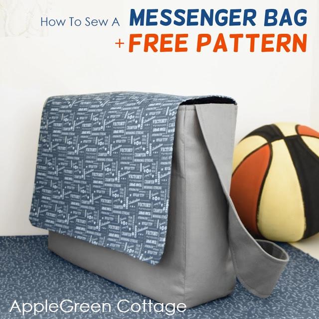 Messenger Bag Free Sewing Pattern