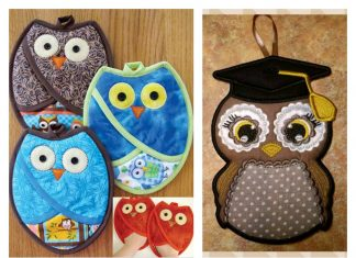Owl Pot Holders Sewing Pattern
