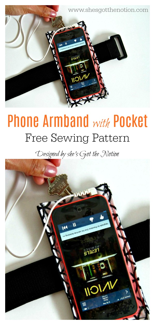 Phone Armband with Pocket Free Sewing Pattern