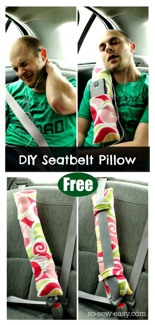 Seatbelt Pillow Free Sewing Pattern