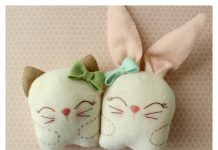 Snuggle Bunny and Kitty Free Sewing Pattern