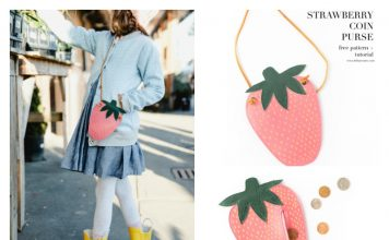 Strawberry Coin Purse Free Sewing Pattern