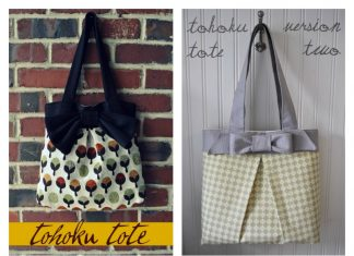 The Tohoku Tote Bag Free Sewing Pattern and Template