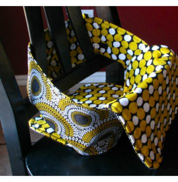 Travel High Chair Free Sewing Pattern and Video Tutorial