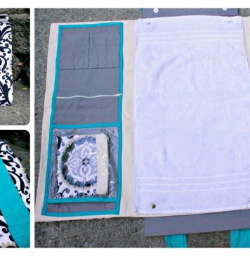 Baby Changing Station and Diaper Bag Free Sewing Pattern