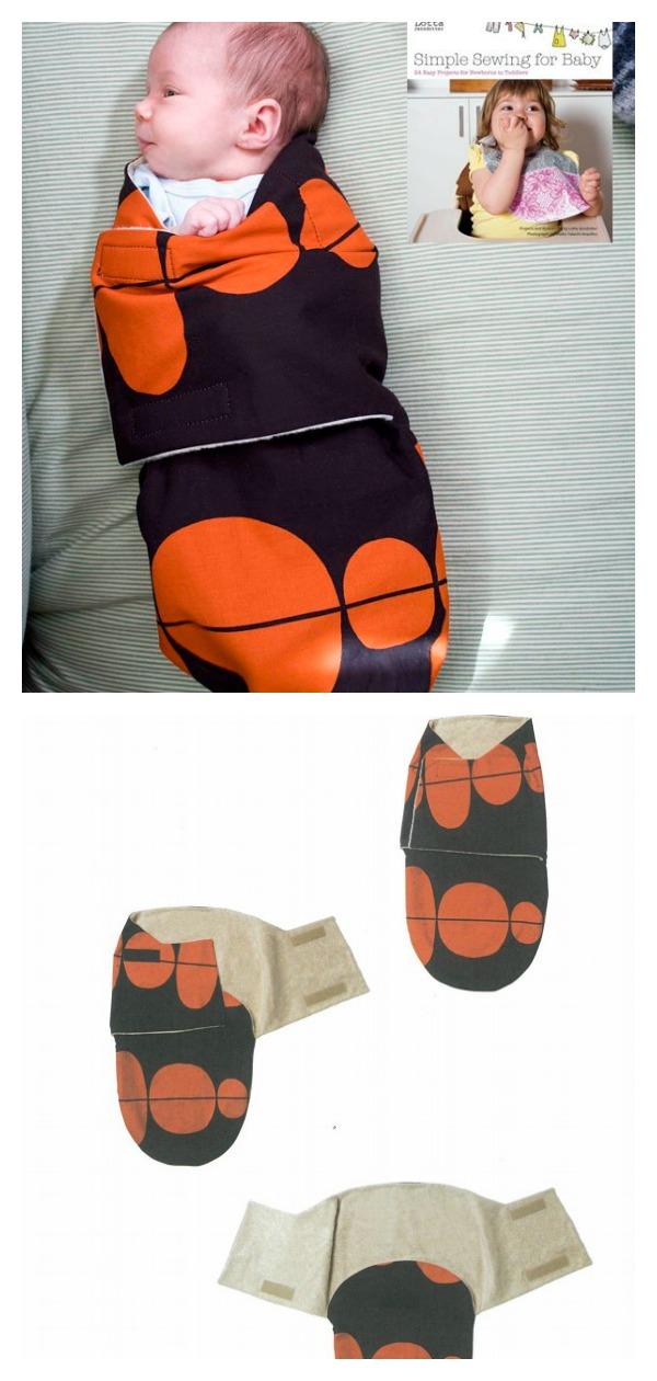 Baby Swaddler Free Sewing Pattern