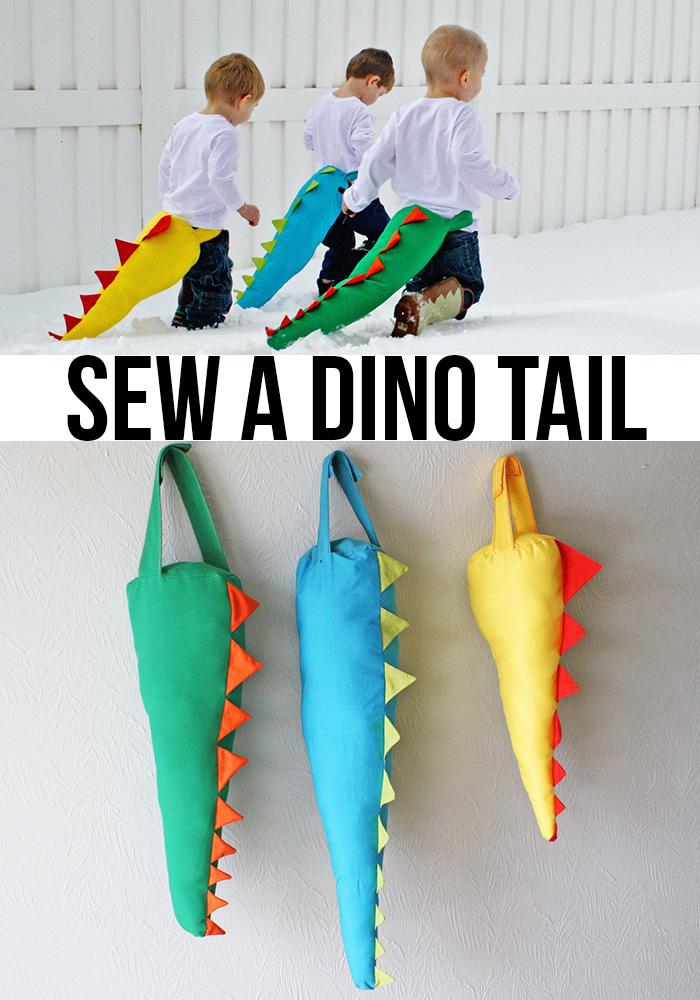 DIY Dino Tail Free Sewing Pattern