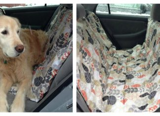 Dog Car Hammock Free Sewing Pattern