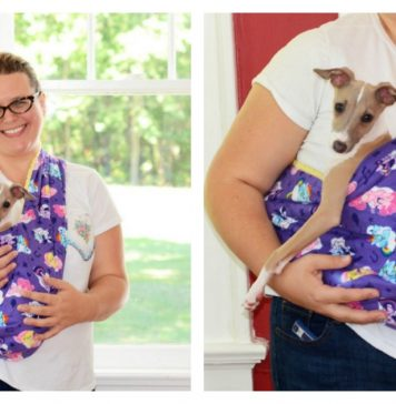 Dog Sling Carrier Free Sewing Pattern