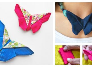 Fabric Origami Butterfly Free Sewing Pattern